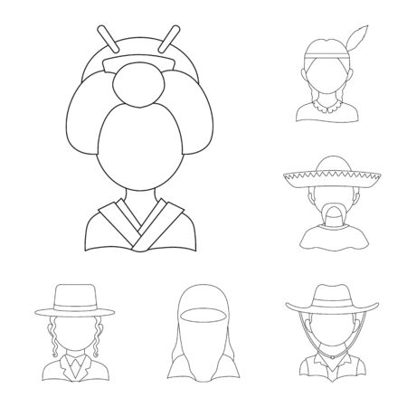 Isolated object of imitator and resident icon. Collection of imitator and culture vector icon for stock.