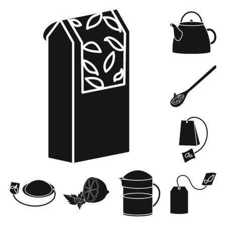 Vector illustration of medicine and gradient logo. Set of medicine and natural stock vector illustration. Stok Fotoğraf - 131098022