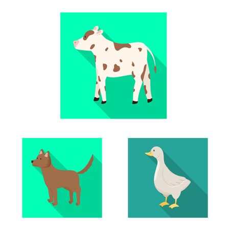 Isolated object of breeding and kitchen sign. Set of breeding and organic vector icon for stock.  イラスト・ベクター素材