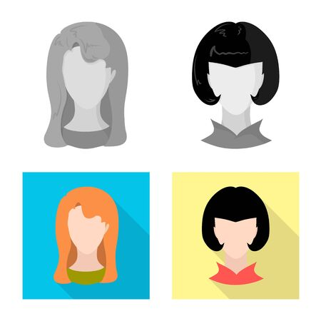 Vector design of professional and photo icon. Collection of professional and profile vector icon for stock.