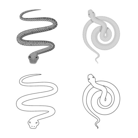 Vector design of mammal and danger symbol. Collection of mammal and medicine vector icon for stock. 일러스트