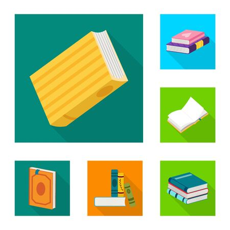 Isolated object of illustration and information symbol. Collection of illustration and cover vector icon for stock.