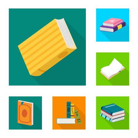 Objet isolé d'illustration et symbole d'information. Collection d'illustration et icône de vecteur de couverture pour le stock.