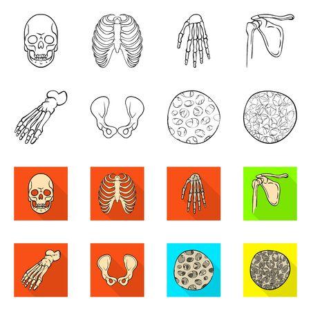 Vector design of medicine and clinic logo. Collection of medicine and medical stock vector illustration.