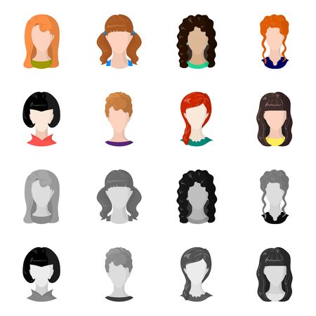 Isolated object of professional and photo logo. Collection of professional and profile stock vector illustration.  イラスト・ベクター素材