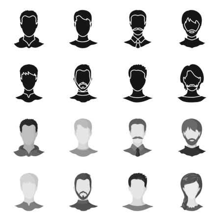 Vector illustration of professional and photo icon. Collection of professional and profile stock symbol for web.  イラスト・ベクター素材