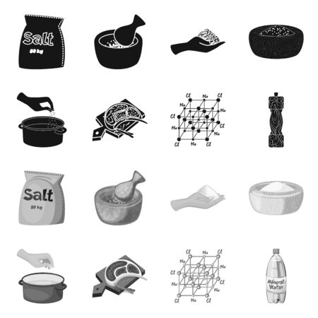 Vector design of cooking and sea symbol. Collection of cooking and baking vector icon for stock. 写真素材 - 131161145