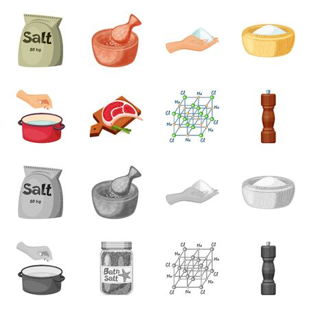 Vector design of cooking and sea icon. Set of cooking and baking stock vector illustration. Ilustração