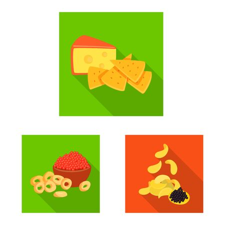 Isolated object of taste and seasoning . Collection of taste and organic stock symbol for web.