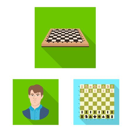 Vector illustration of checkmate and thin sign. Collection of checkmate and target stock vector illustration. Illustration