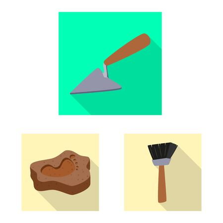 Vector illustration of story and items icon. Set of story and attributes vector icon for stock. Фото со стока - 131351563