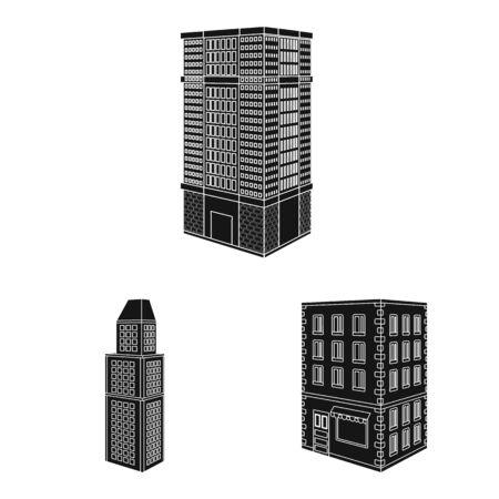 Vector design of architecture and estate symbol. Set of architecture and build stock symbol for web.
