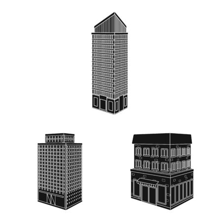 Vector design of architecture and estate symbol. Collection of architecture and build vector icon for stock.
