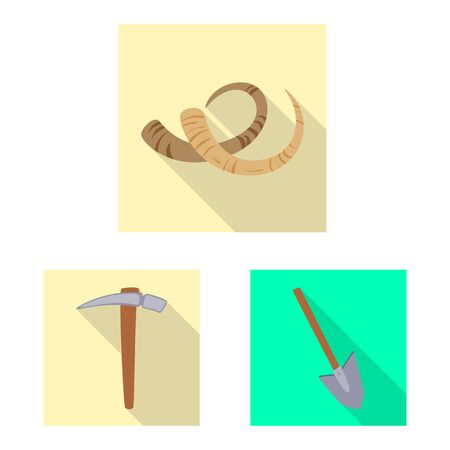 Isolated object of story and items symbol. Set of story and attributes stock symbol for web. Фото со стока - 131351610