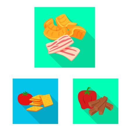 Isolated object of taste and seasoning . Collection of taste and organic vector icon for stock.