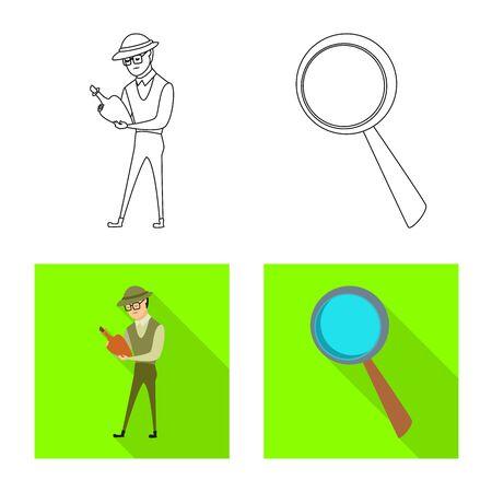 Vector illustration of story and items symbol. Collection of story and attributes vector icon for stock. Фото со стока - 131351664