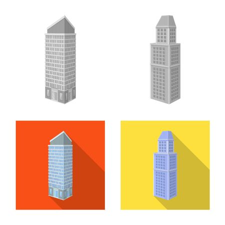 Vector design of construction and building . Collection of construction and estate stock vector illustration.
