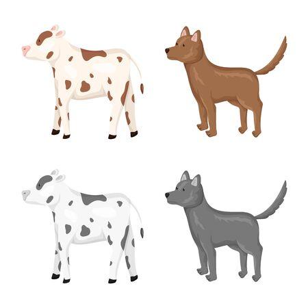Vector illustration of breeding and kitchen . Set of breeding and organic vector icon for stock.