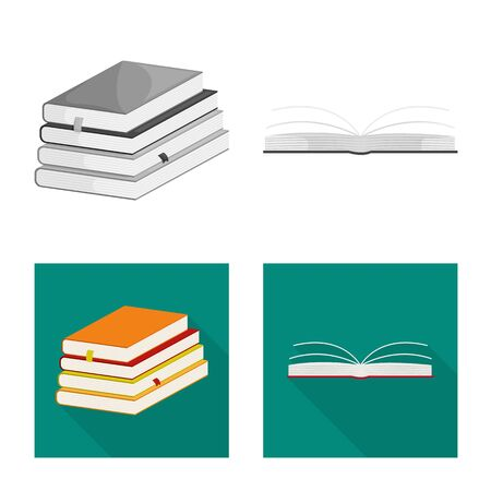 Vector design of training and cover . Collection of training and bookstore stock symbol for web.