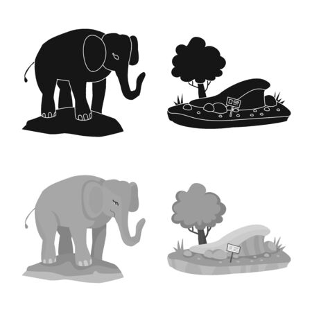 Vector illustration of nature and fun . Collection of nature and entertainment stock symbol for web.