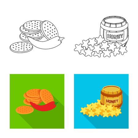 Isolated object of taste and seasonin sign. Collection of taste and organic vector icon for stock.