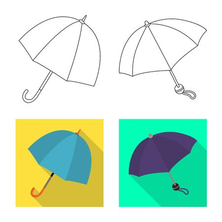 Isolated object of protection and closed. Set of protection and rainy stock vector illustration.
