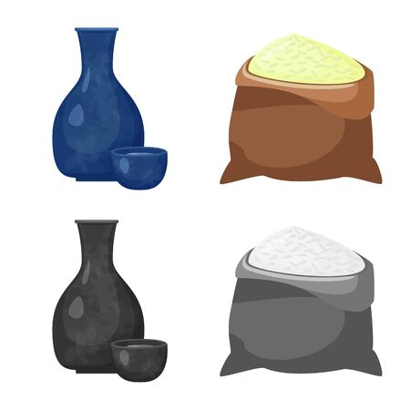 Vector illustration of crop and ecological icon. Collection of crop and cooking vector icon for stock.