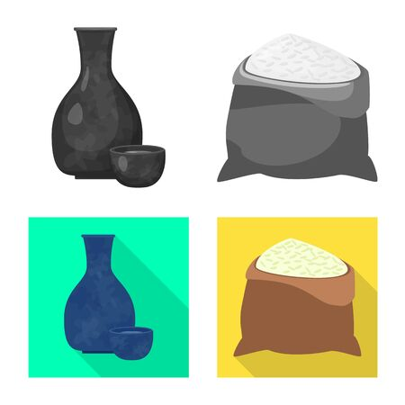 Vector design of crop and ecological sign. Set of crop and cooking vector icon for stock. Ilustracja