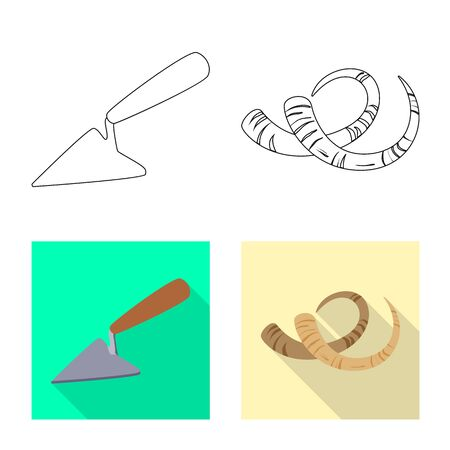 Vector design of story and items symbol. Collection of story and attributes stock symbol for web.