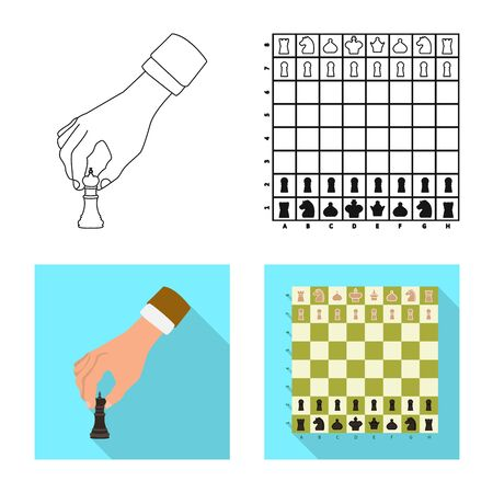 Vector illustration of checkmate and thin symbol. Collection of checkmate and target vector icon for stock. Illustration