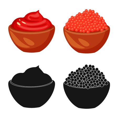 Vector design of taste and product icon. Set of taste and cooking vector icon for stock. 向量圖像