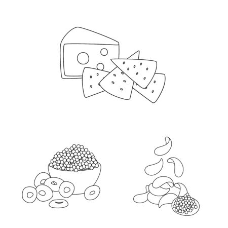 Vector illustration of taste and crunchy icon. Collection of taste and cooking stock symbol for web.
