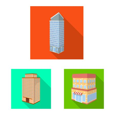 Vector illustration of construction and building. Set of construction and estate stock symbol for web.