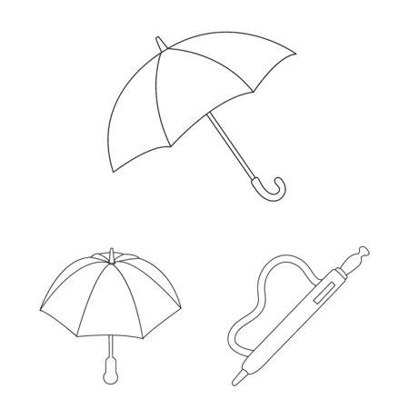 Vector illustration of season and open icon. Collection of season and safety vector icon for stock. Illustration