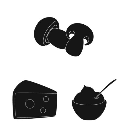 Vector illustration of organic and cooking. Set of organic and flavors stock symbol for web.  イラスト・ベクター素材