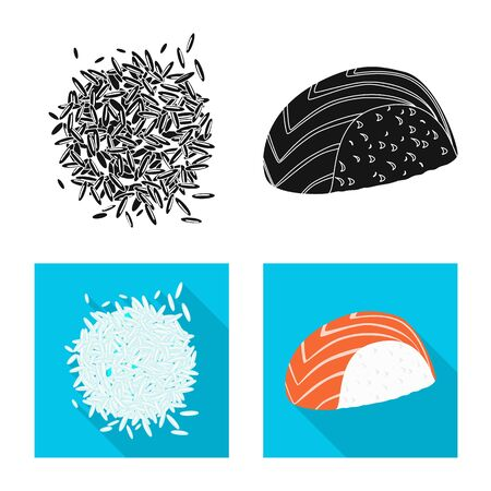 Vector design of crop and ecological icon. Set of crop and cooking stock vector illustration.