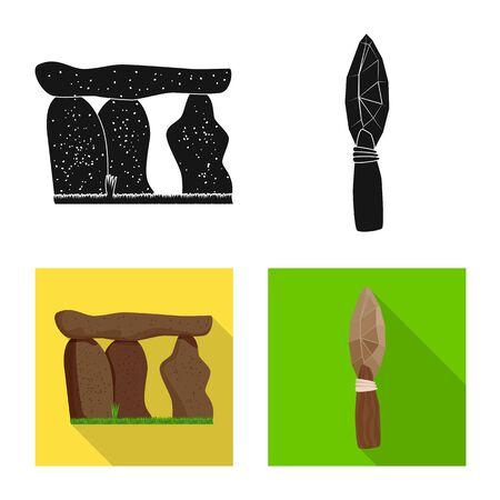 Vector illustration of evolution and prehistory sign. Set of evolution and development stock vector illustration.