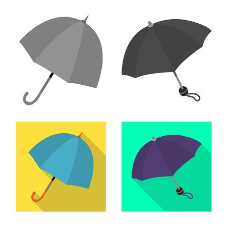 Vector illustration of protection and closed icon. Collection of protection and rainy stock symbol for web.