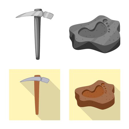 Vector design of story and items sign. Collection of story and attributes vector icon for stock.