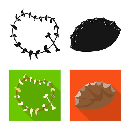 Vector design of evolution and prehistory symbol. Set of evolution and development stock symbol for web.