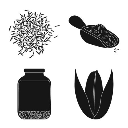 Isolated object of diet and cooking symbol. Collection of diet and organic stock vector illustration. Zdjęcie Seryjne - 132549248