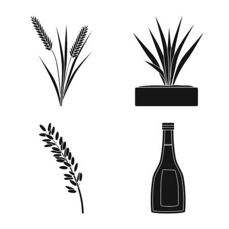 Isolated object of diet and cooking symbol. Collection of diet and organic vector icon for stock. 向量圖像