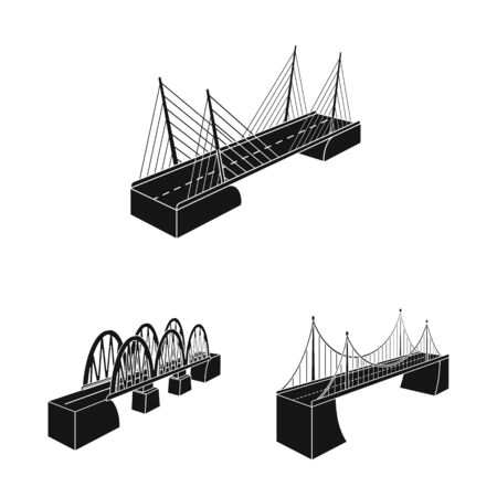 Vector design of construct and side symbol. Collection of construct and architecture vector icon for stock.