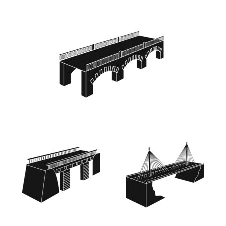 Vector illustration of construct and side icon. Collection of construct and architecture vector icon for stock.