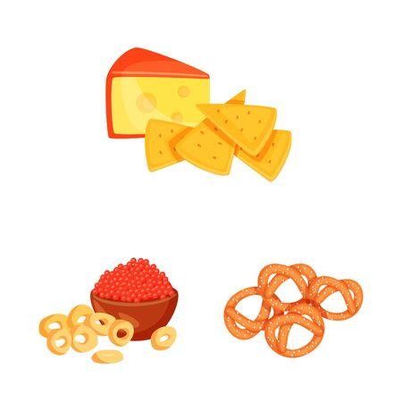 Isolated object of food and product sign. Collection of food and party stock symbol for web.