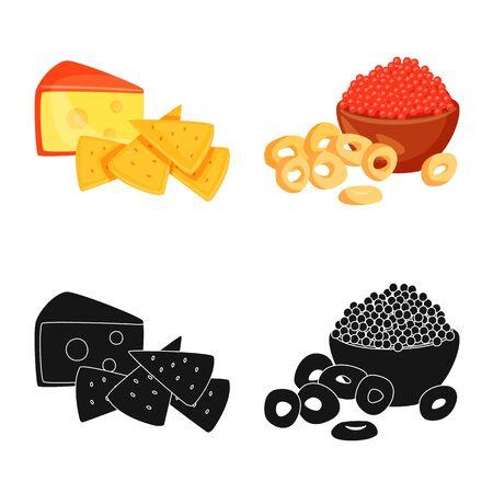 Vector illustration of taste and seasonin symbol. Collection of taste and organic stock vector illustration. Stock Illustratie