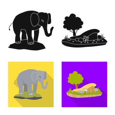 Vector illustration of nature and fun symbol. Collection of nature and entertainment vector icon for stock.