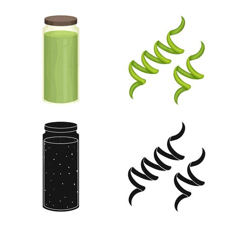 Vector illustration of protein and sea icon. Collection of protein and natural stock vector illustration.