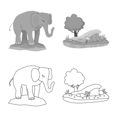 Isolated object of nature and fun symbol. Set of nature and entertainment vector icon for stock.