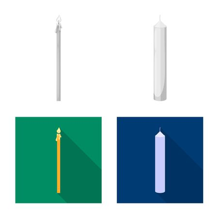 Vector design of relaxation and flame sign. Set of relaxation and wax vector icon for stock.